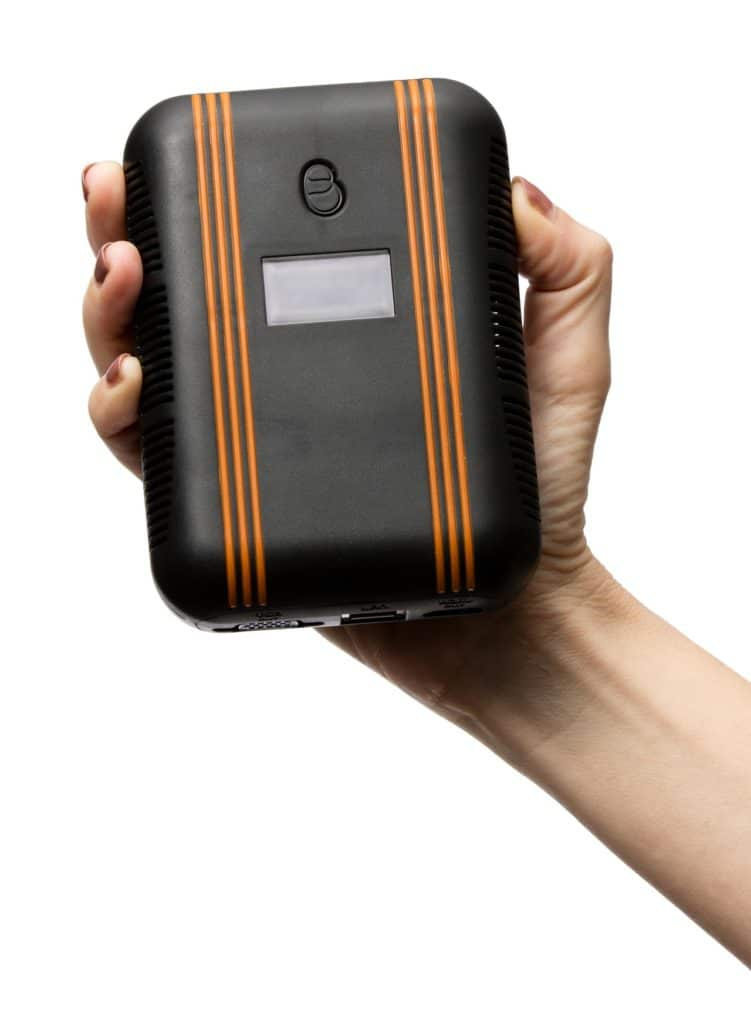 crowdbeamer device in hand